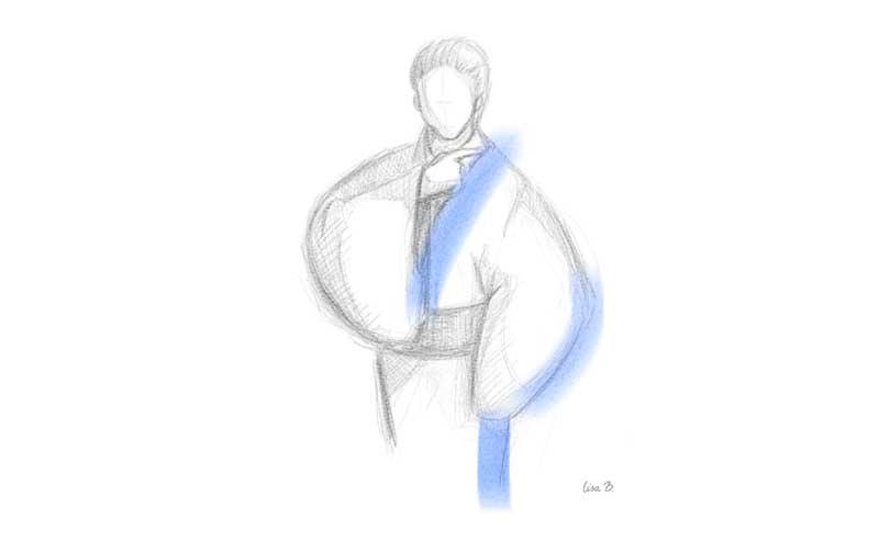 襟をただす 日本舞踊の振り