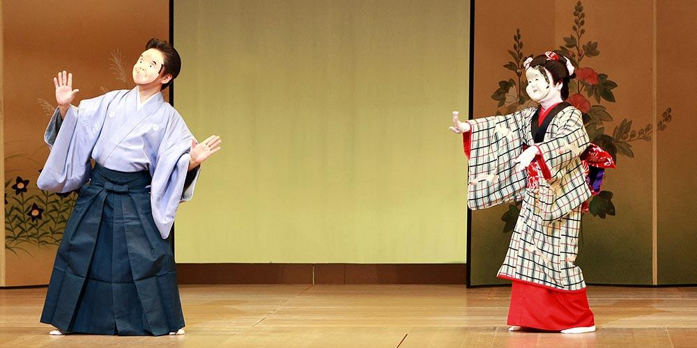 英御流 日本舞踊 舞台 面踊り