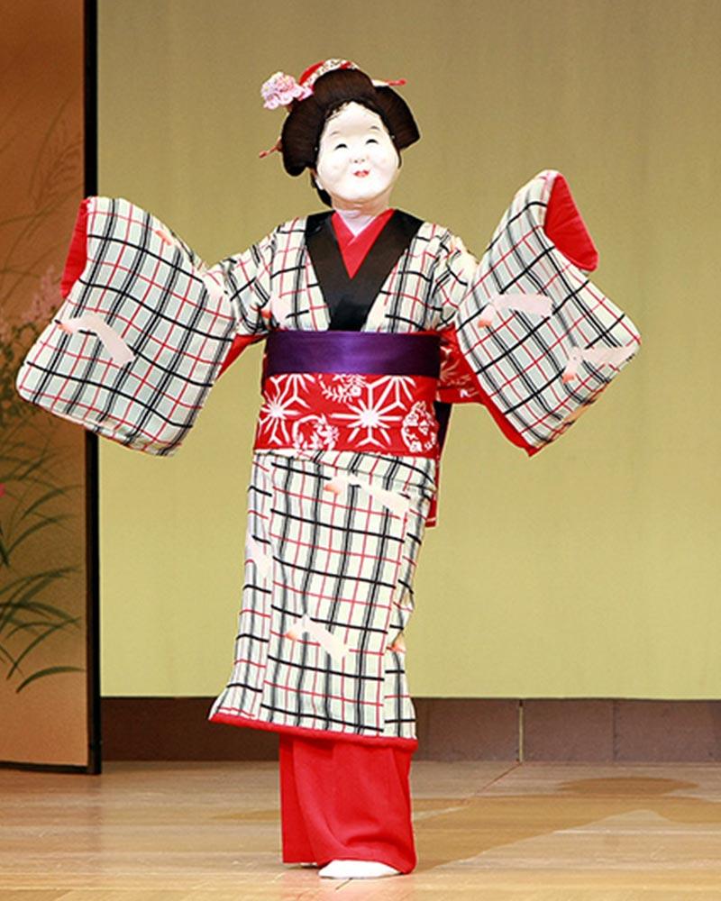 日本舞踊 英御流 舞台 お面