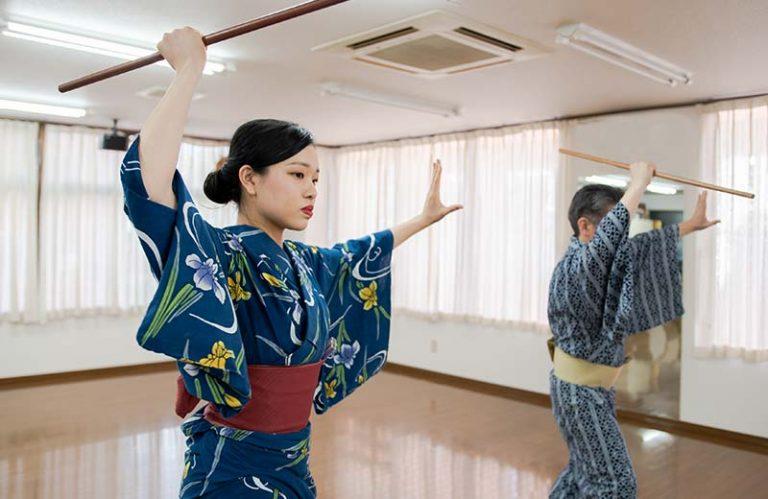 日本舞踊の体験稽古